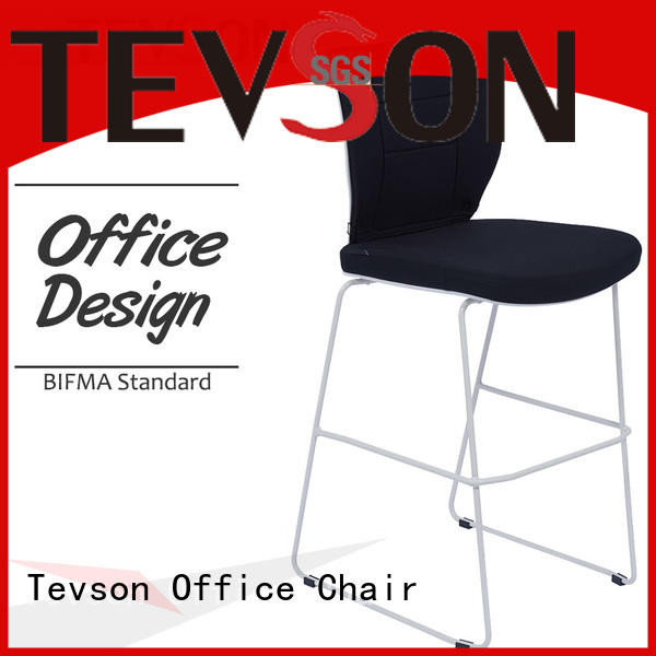 Tevson counter high bar chairs certifications for canteen
