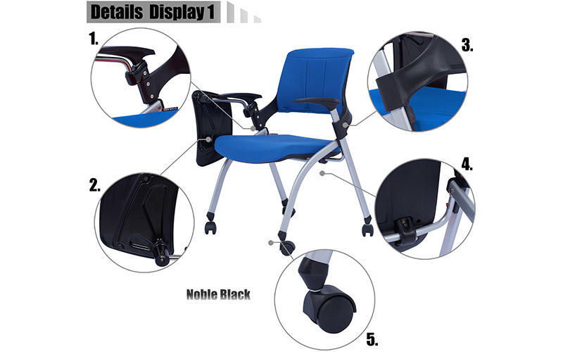 Tevson heavy training room chair workshops with writing board-2