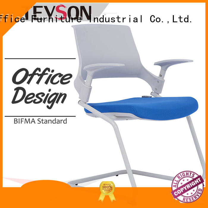 student chair with writing pad mid ergonomic modern conference room chairs staff Tevson Brand