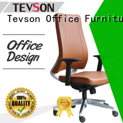 Tevson comfortable ergonomic leather office chair for business in college dorm