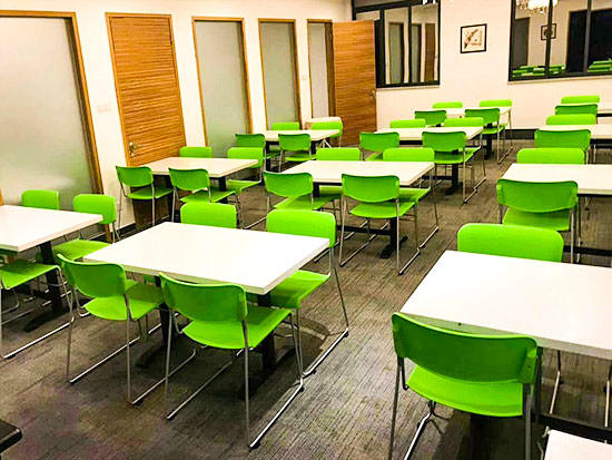 Canteen table and chair project for employee of YIZUMI (a well-noted listed company in China)
