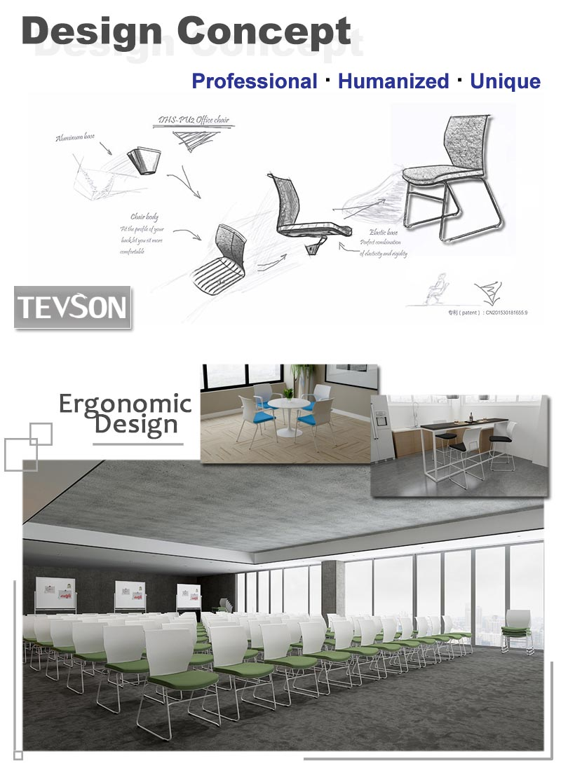 Tevson sturdy conference chairs for waiting Room-7