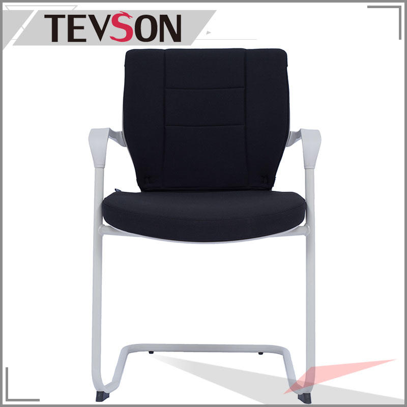 Plastic Mid Back Polyester Seat Guest Reception Chair