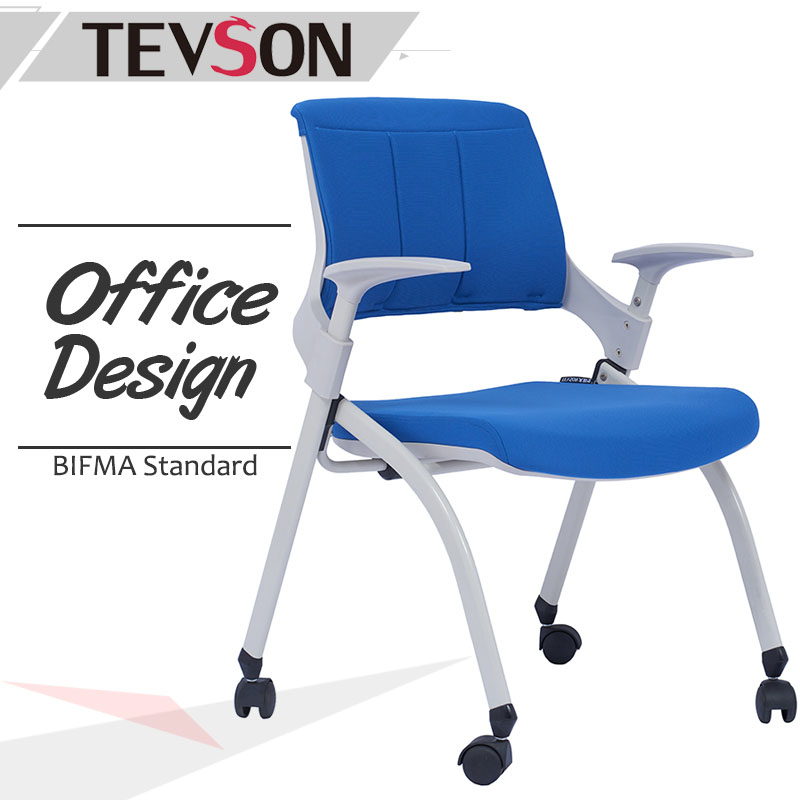 Tevson mid back study chair with writing pad workshops for reception-1
