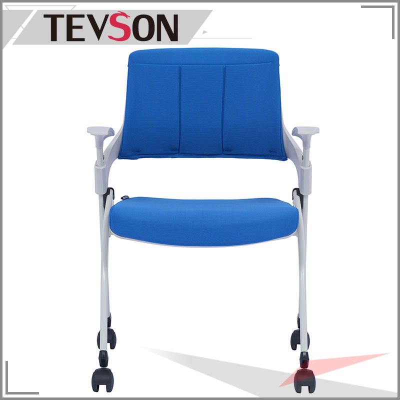 Plastic Back Mobile Folding Apprentice Chair With Wheels