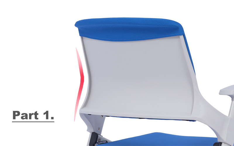 mid back study chair with writing pad design scientificly for waiting Room-2