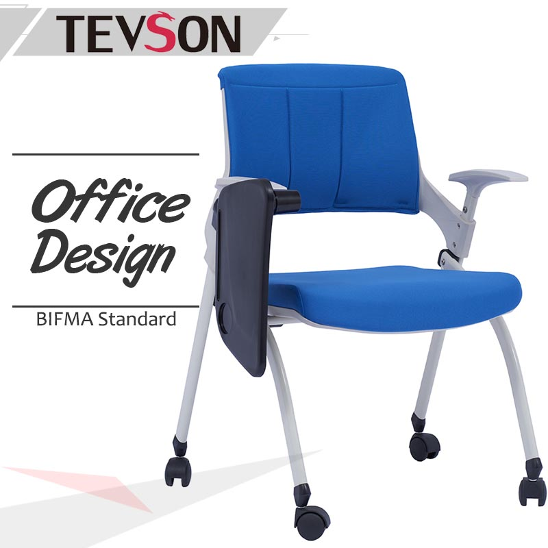 Tevson latest tablet arm chair bulk production with writing board-1