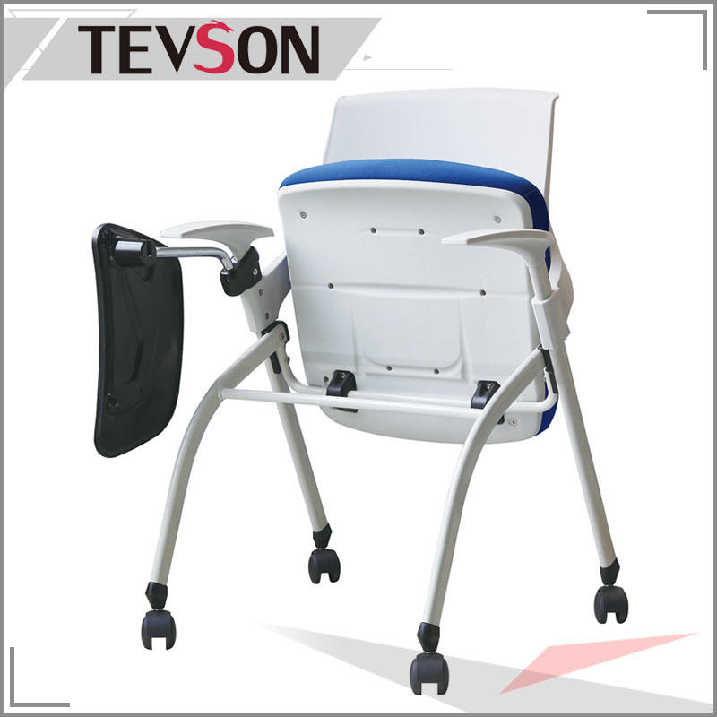 Comfortable Student Training Laptop Chair with Plastic Tablet