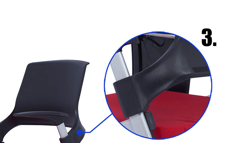 mid back study chair with writing pad or assurance for conference-6