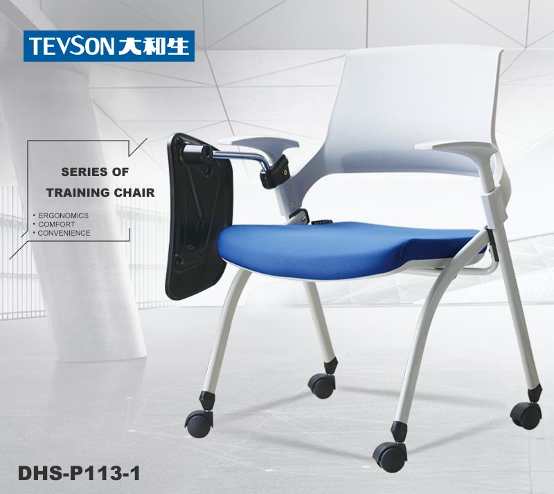 mid back study chair with writing pad or assurance for conference-9