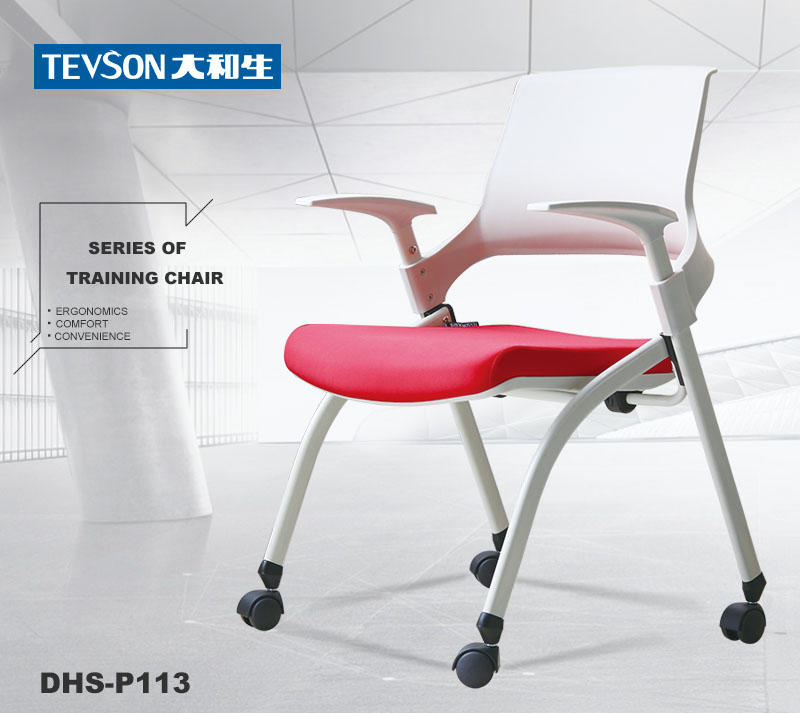 plastic tablet arm chair marketing with writing board