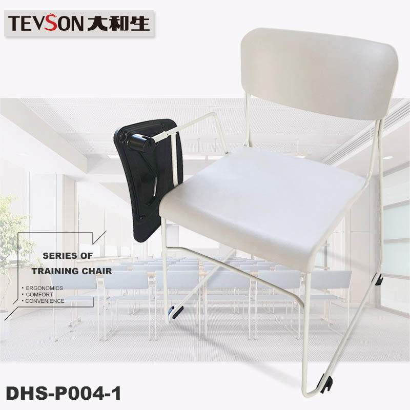 plastic classroom chair with writing pad bulk production with writing board