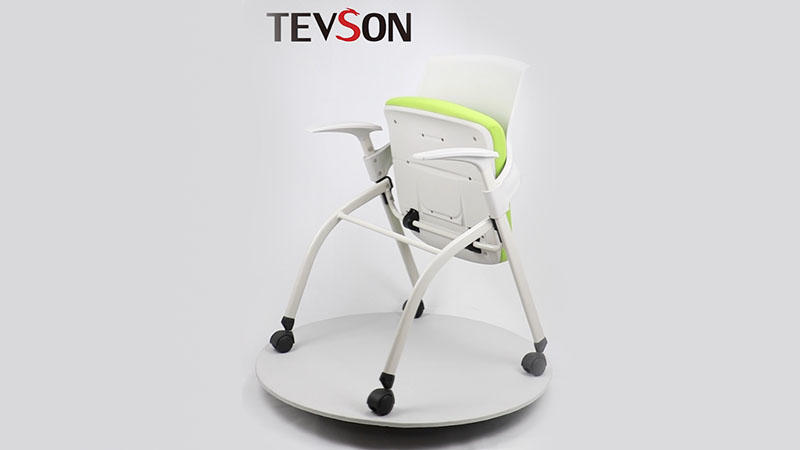 Folding desk chair with arms DHS-P113