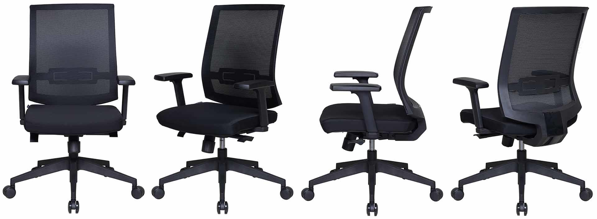 Tevson task low-back office chair in work room-1