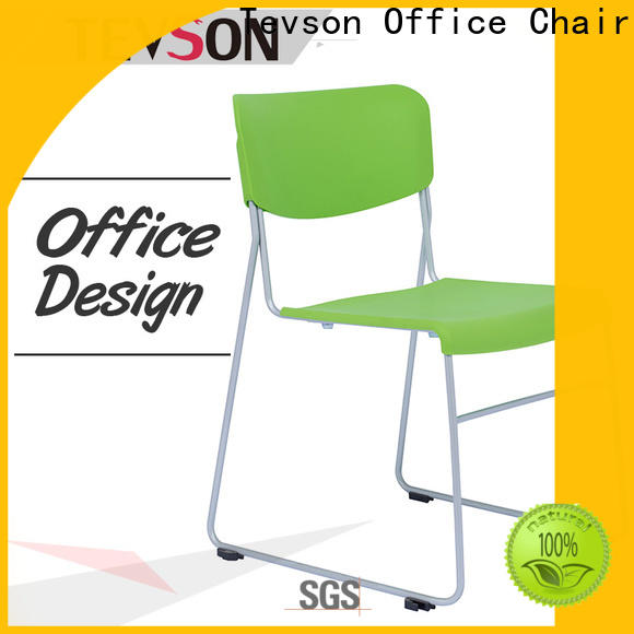Tevson plastic study chair with writing pad for reception