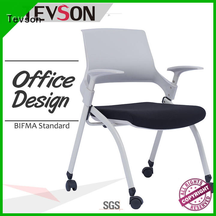 school student chair with writing pad arm upholstered Tevson Brand