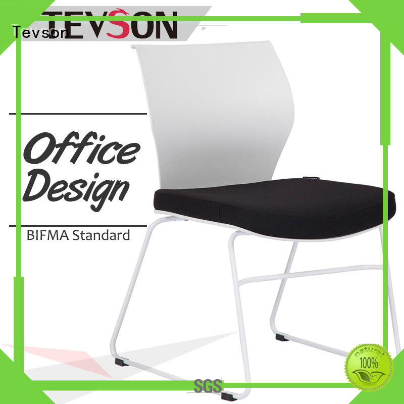 Tevson plastic study chair with writing pad bulk production for reception