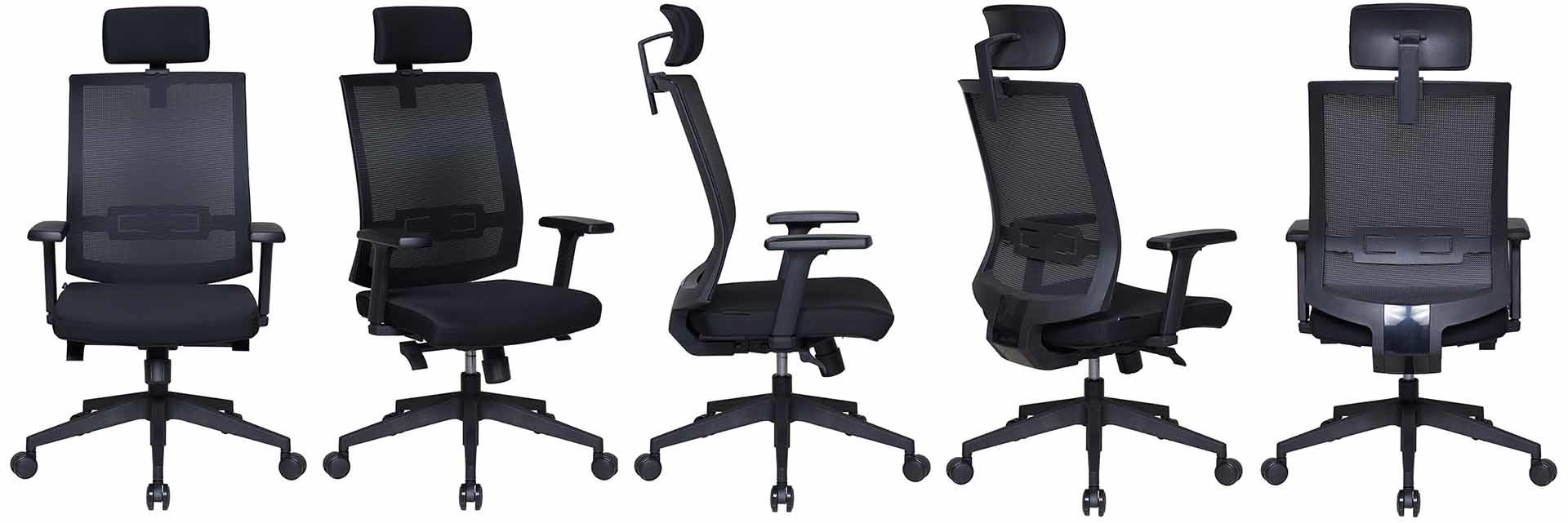 Tevson leather ergonomic leather office chair solutions for reception-1