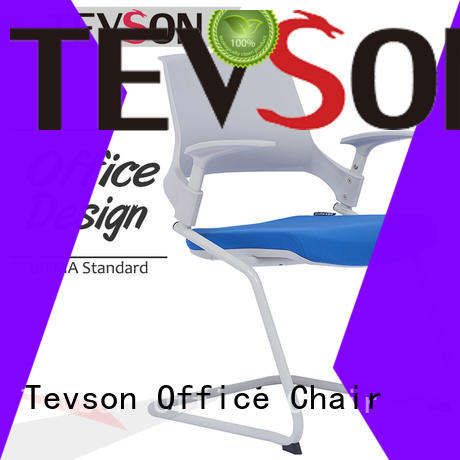 Tevson plastic classroom chairs with writing pad for waiting Room