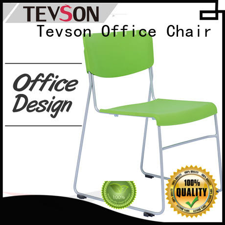 Tevson plastic classroom chairs with writing pad certifications for reception