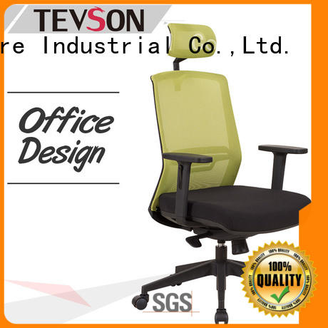 Tevson classic high back office chair bulk production in work room