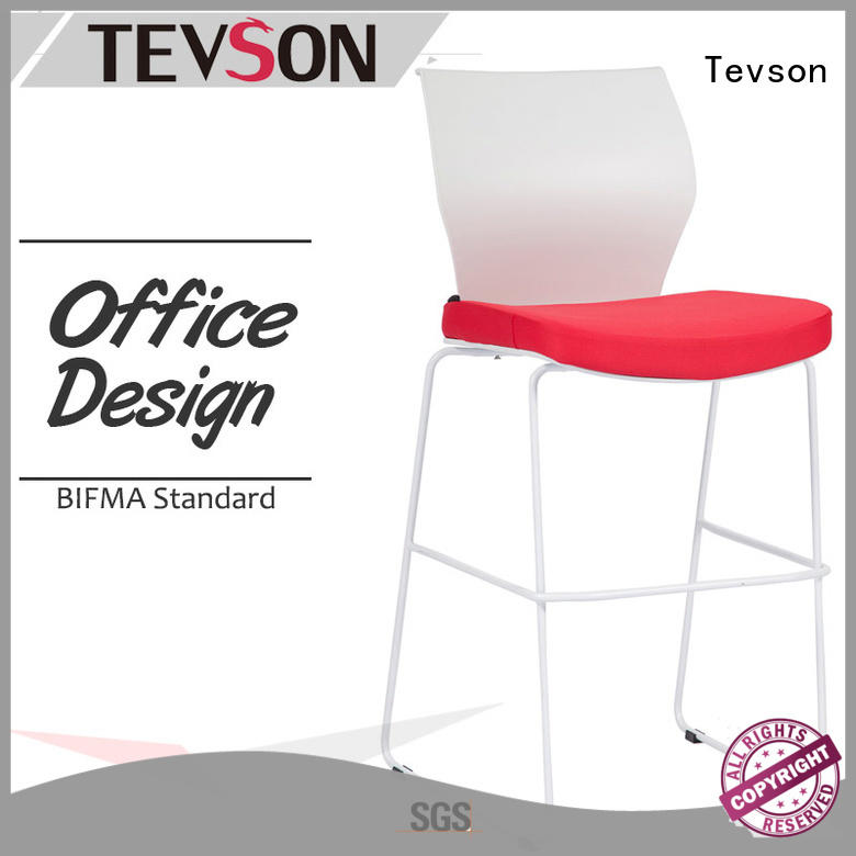 Tevson armless tall bar stools factory for canteen