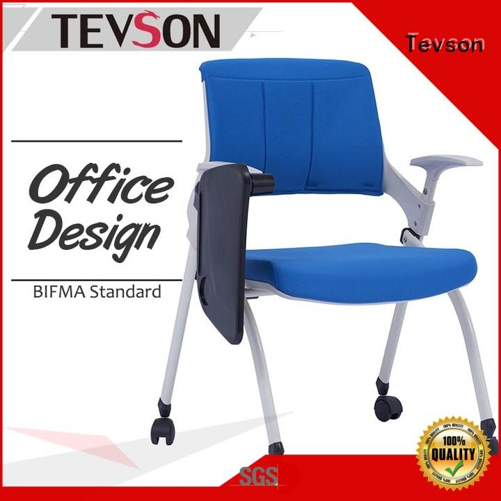 new-arrival student chair with writing pad certifications for waiting Room Tevson