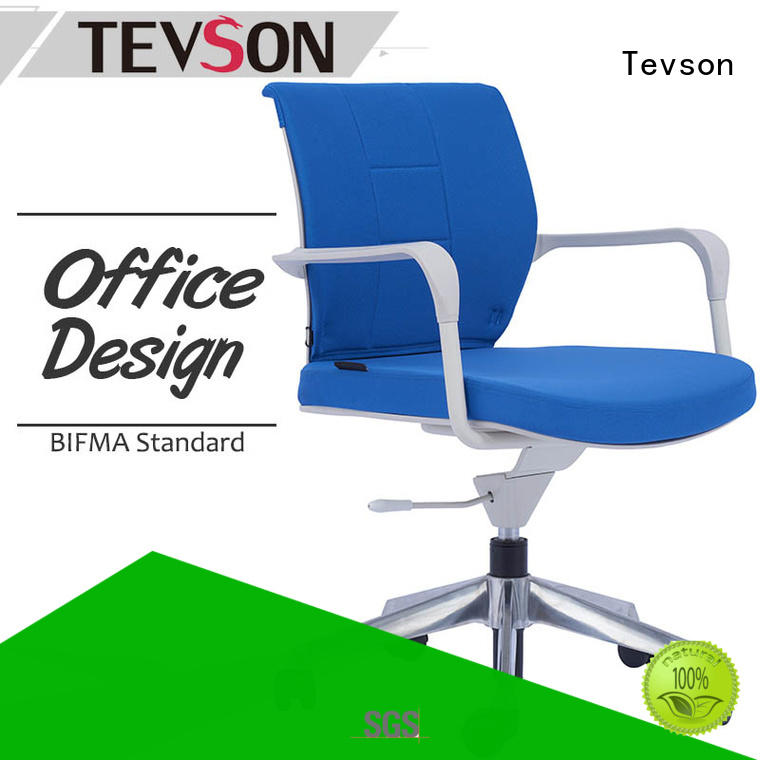 Tevson furniture office chair with armrests in work room