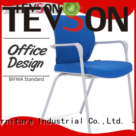 upholstered chair with tablet molded for conference Tevson