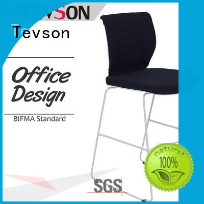 Tevson back high bar chairs manufacturer for snack bar