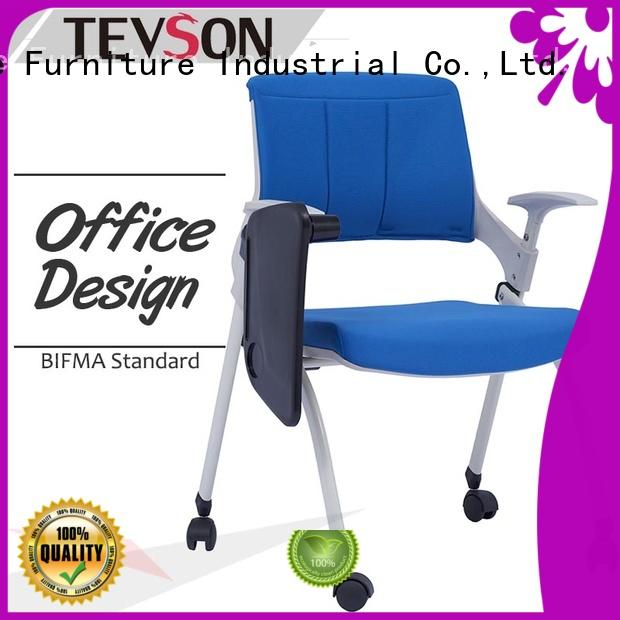 Tevson mid back meeting room chairs scientificly with writing board