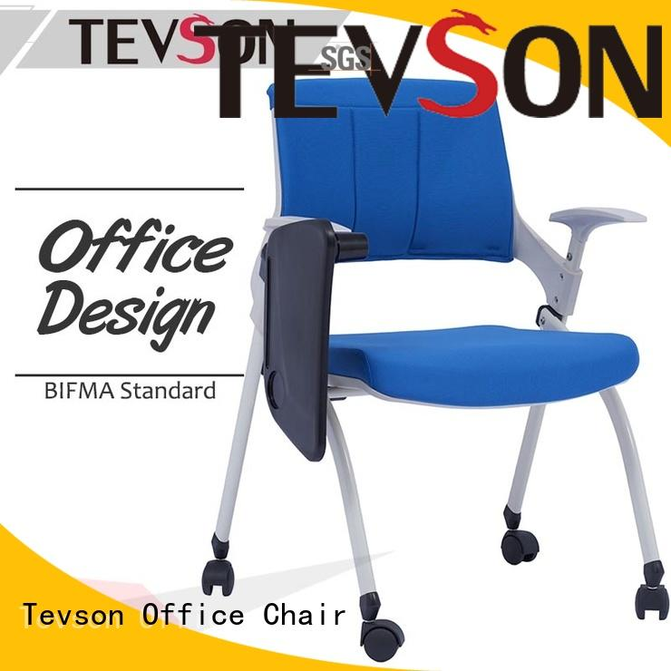 Tevson latest tablet arm chair bulk production with writing board