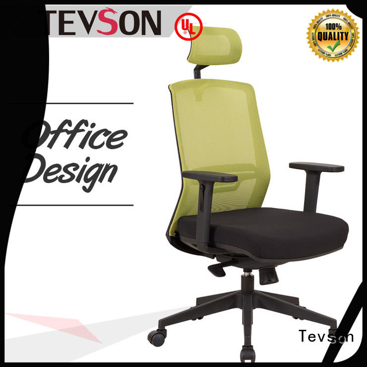 Tevson comfortable low back leather office chair executive for room