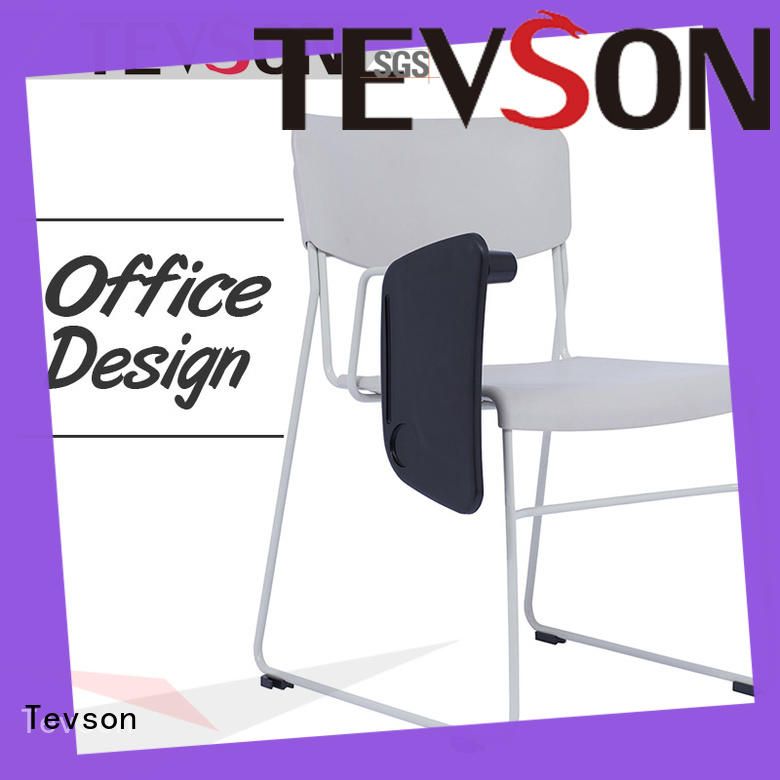 heavy visitor chair folding with writing board