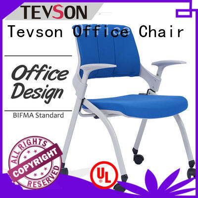 Tevson mid back study chair with writing pad workshops for reception