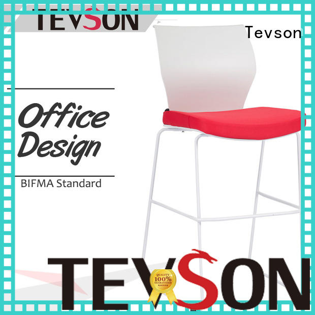Tevson back bar stools with backs button design for tea statoin