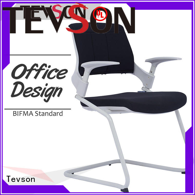 Tevson plastic training room chair certifications with writing board