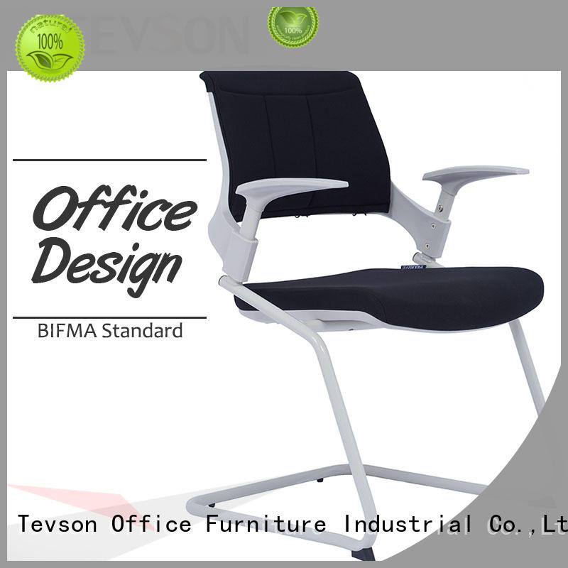 Tevson mid back study chair with pad back with writing board