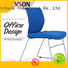 Tevson mid back classroom chairs with writing pad bulk production for conference
