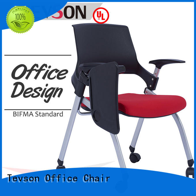 mid back study chair with writing pad or assurance for conference