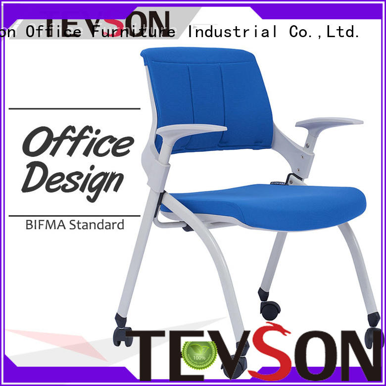 Tevson heavy classroom chairs with writing pad for waiting Room
