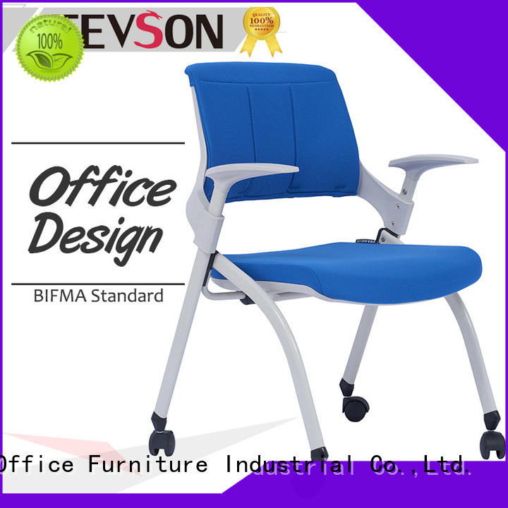 Tevson furniture training room chair bulk production with writing board