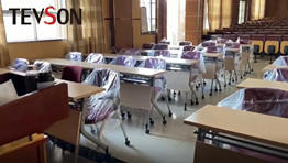 Multimedia classroom chairs and desks