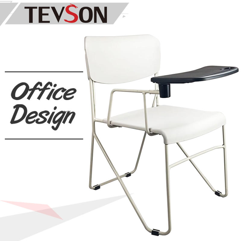 Classroom Student Lecture Plastic Training Chair with Desk Arm