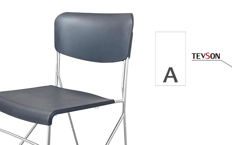 Tevson plastic classroom chairs with writing pad certifications with writing board-1